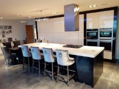1 x Bespoke Gloss White Fitted Kitchen With NEFF Appliances & Granite Topped Breakfast Area - NO VAT