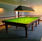 1 x Full-sized 12 x 6, 5-Slate Snooker Table With Ceiling Light And Accessories *NO VAT ON HAMMER*