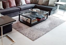 1 x Designer Rug In Tones Of Grey With Metallic Slivers Of Silver - Dimensions: 250 x 180cm *NO VAT*