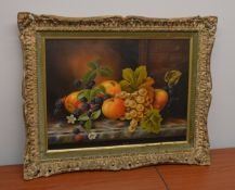 1 x Framed Picture Of Fruit - Dimensions: 52 x 42cm - Ref: MD164 / WH1 D-OFF - Pre-owned, From A