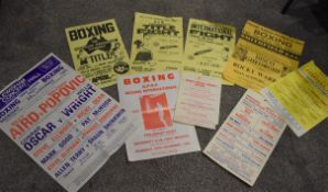 Collection of 9 x Vintage Early 1980's Boxing Posters - Venues Include Lewisham Concert Hall,