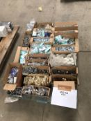 1 x Assorted Pallet Job Lot - Includes Handles, Rail Hanging Brackets, Rails and Wall Brackets -