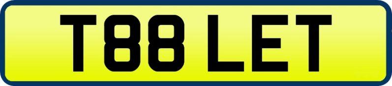 1 x Private Vehicle Registration Car Plate - T88 LET -CL590 - Location: Altrincham WA14More