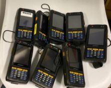 8 x Pidion BIP-6000 Handheld Mobile Computer With Barcode Scanning Capability - Used Condition -