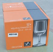 24 x PRELUDE Royal Leerdam Crystal Wine Glasses (24 cl) - Original RRP £180.00