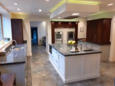 1 x Bespoke Solid Wood Painted Kitchen Beautifully Appointed With Granite Worktops, Central Island