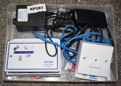 1 x Axxess ID AX100 ID Card Controller With AX200 TCP/IP Network Controller and Accessories -