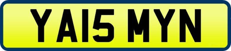 1 x Private Vehicle Registration Car Plate - YA15 MYN -CL590 - Location: Altrincham WA14