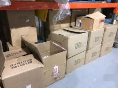 Approximately 24 x Boxes of Stock - Includes Paper Lanterns, Reels of Ribbon, Mystery Boxes and More