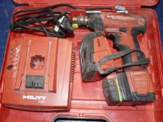1 x Hilti SIW 144A Cordless Impact Wrench With Charger, Two Batteries and Carry Case