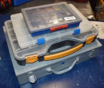 4 x Carry Cases With Contents Includes Large Number of Cable Markers For Electricians