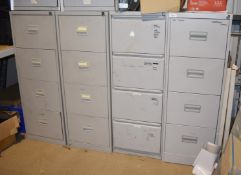 4 x Four Drawer Metal Filing Cabinets PME377