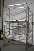 1 x Large Collection of Scaffold Tower Equipment Includes Three Mobile Scaffold Towers