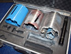 1 x Core Diamond Dry Core Set Includes Approx 9 Pieces and Carry Case PME155