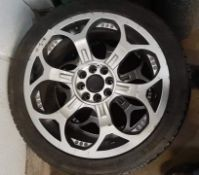 """Set of 4 Multi Fitment 4 Stud 17"""" x 7.0"""" Alloy Wheels with 205/45ZR17 Tyres - CL444 - No VAT on"""
