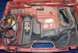 1 x Hilti TE56 110v Rotary Hammer Drill With Various Drill Bits and Carry Case PME142