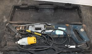 1 x Casals 110v Hammer Drill With Carry Case Model PN35/2VCETM 900w With 110v Site Plug