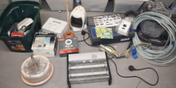 1 x Assorted Job Lot - Features Clasp Locks, Vacuum Cleaner, Mixing Tool, Fly Zapper, Heater & More!