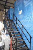 1 x Mezzanine Floor With Integrated Racking Shelving System Size H473 x W360 x L870 cms