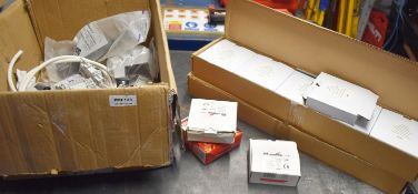 1 x Assorted Job Lot to Include 20 Pattress Boxes, Addressable Sound Bases, Fire Alarm and More