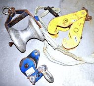 Assorted Collection of Lifting Equipment Including Euro Snatch Block, Lifting Pully, Morris