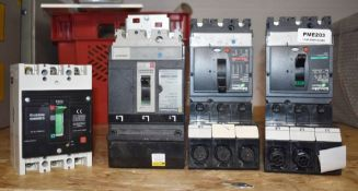 4 x Circuit Breakers By Crabtree Powerstar, Schneider Electric and Square D PME203