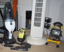1 x Assorted Job Lot Including LED Light, Tower Fan, Two Sets of Walkie Talkies and HoLife Mini