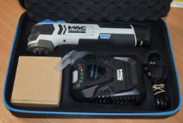 1 x Mac Allister 10.8v 90w Cordless Multi Tool With Case and Accessories Type MEMT108LI