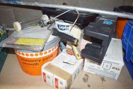 1 x Assorted DIY Job Lot - Includes Hilti Dispenser, Wall Tiles, Masonry Paint, Paint Roller