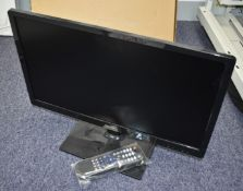 1 x Qvis 21 Inch LED CCTV Security Monitor With User Manual and Remote Control