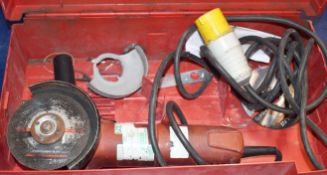 1 x Hilti DC 125S 110v Angle Grinder With Case PME128