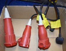3 x Mennekes 240v to 3 Phase Plug Adaptors PME160