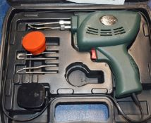 1 x Parkside Soldering Gun With Carry Case and Accessories Type PLP 180 240v PME176