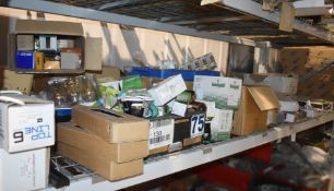 Large Assorted Job Lot - Many Various Items Included - Light Fittings, Bulbs, Emergency Exit Signs