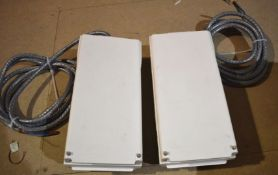 2 x Schneider Electric Canalis 50 Amp Tap Off Units With Isolator Type KNB50SF4 RRP £440