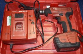 1 x Hilti SIW 144A Cordless Impact Wrench With Charger, Battery and Carry Case PME138