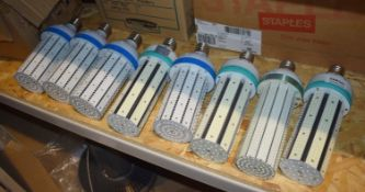 8 x Industrial LED Corn Lamp Bulbs Suitable For Warehouse Lighting Includes 80w and 100w LED