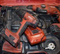 1 x Hilti 22v Multi Tool Kit Including TE 2A22 Cordless Hammer Drill, SFC 22A Cordless Drill