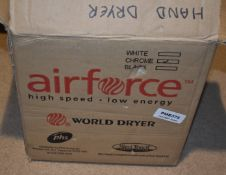 1 x Air Force Electric Hand Dryer in Chrome Model Number J48970W New and Boxed