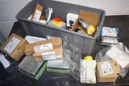 1 x Assorted Job Lot - 110v Plug Sockets, Metal Plug Boxes, FAAST Earth Bars, Fan Controllers & More