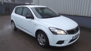 2011 Kia Ceed 1 1.4 5Dr Hatchback- CL505 - NO VAT ON THE HAMMER - Location: Corby,