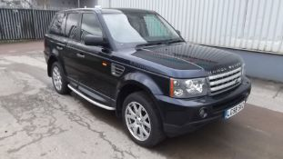 2008 Land Rover Range Rover Sp Hse 2.7 Tdv6 A 5Dr SUV - CL505 - NO VAT ON THE HAMMER - Location: Cor