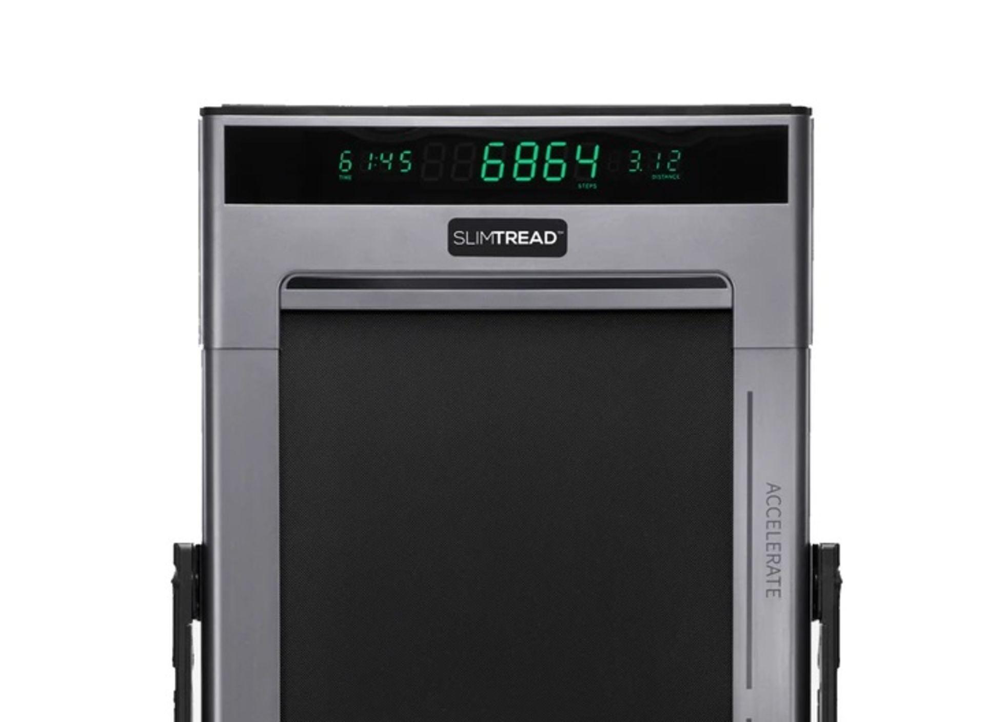 1 x Slim Tread Ultra Thin Smart Treadmill Running / Walking Machine - Lightweight With Folding - Image 4 of 19