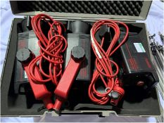 3 x Multiblitz Compact Lights In Hard Carrying Case - Ref: RITAP11 - CL548 - Location: Leicester LE4