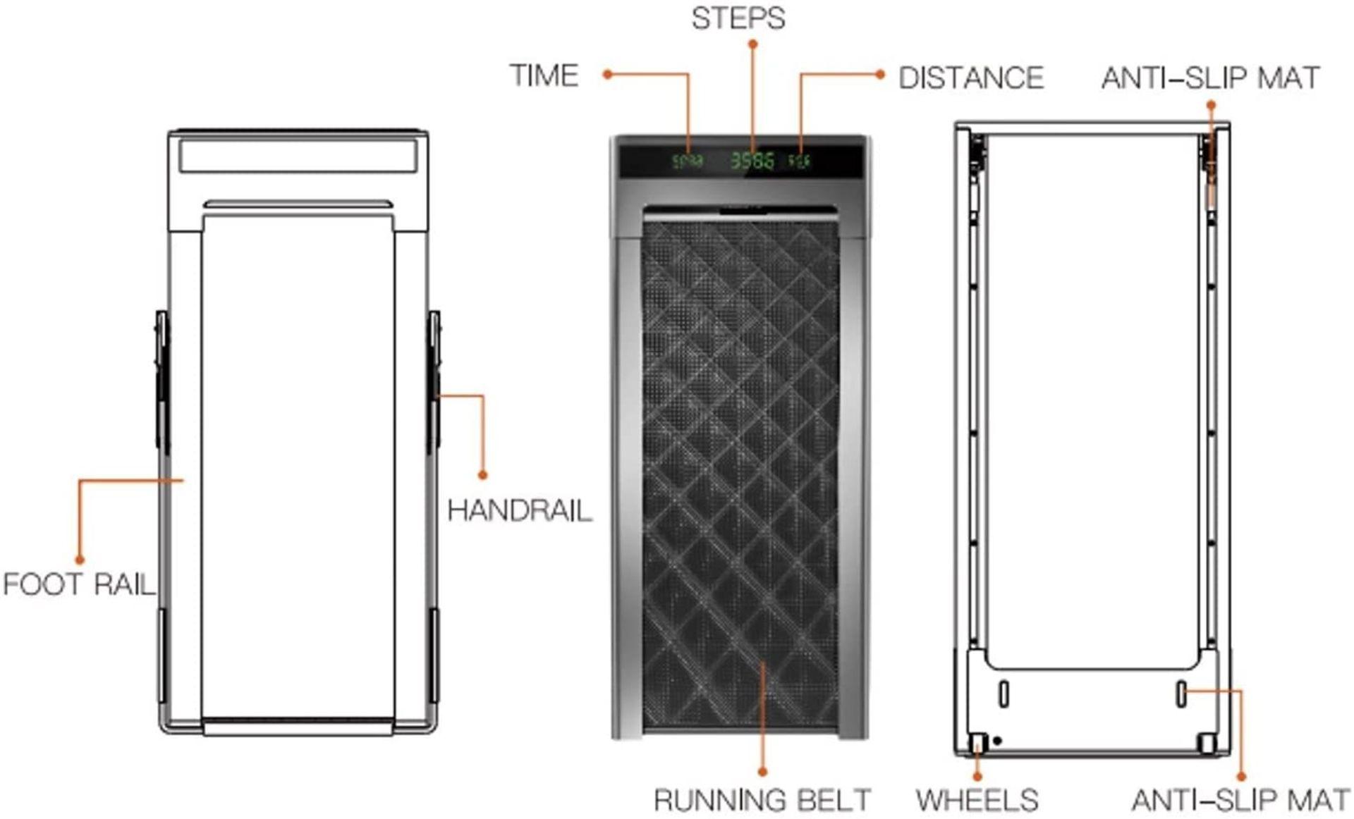 1 x Slim Tread Ultra Thin Smart Treadmill Running / Walking Machine - Lightweight With Folding - Image 9 of 19