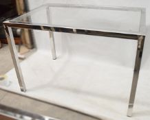 1 x Rectangular Glass Topped Retail Display Table - Dimensions: H92 x W135 x D90cm - Ex-Display