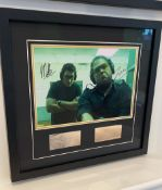 1 x Signed Autograph Framed Picture With COA - JONAH HILL & MILES TELLER - CL590 - NO VAT ON THE