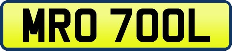 1 x Private Vehicle Registration Car Plate - MR0 7OOL -CL590 - Location: Altrincham WA14