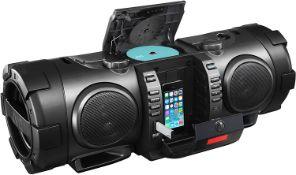 1 xJVC RV-NB100B Bluetooth Portable CD Boomblaster with Lightning Dock and DAB - RRP £250 - Pre-