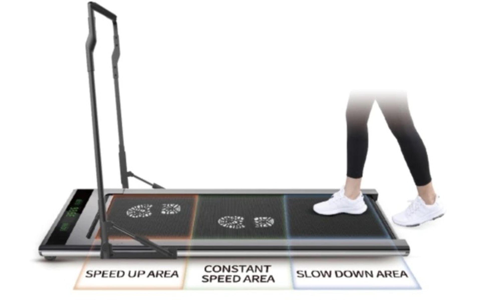 1 x Slim Tread Ultra Thin Smart Treadmill Running / Walking Machine - Lightweight With Folding - Image 14 of 23